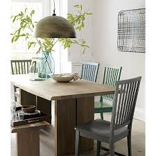 Dakota  Dining Table Crates Barrels And Pendant Lighting - Crate and barrel dining room tables