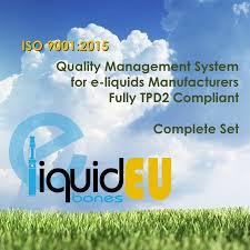 iso 9001 2015 templates for e liquids quality management system