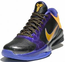 bryant shoes pictures nike zoom v 5 lakers edition