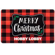 plaid merry christmas gift card hobby lobby