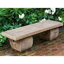 campania international ryokan cast stone backless garden bench
