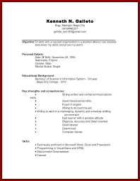 resume exles for high students with no experience simple no work experience resume template with resume for no