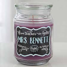 personalized candle personalized candle jar teachers light the way