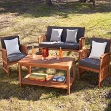 Acacia Wood Outdoor Furniture by How To Choose The Best Wood Patio Set Overstock Com