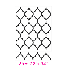Stencils For Home Decor Beautiful Quatrefoil Moroccan Wall Inspired Modern Designer