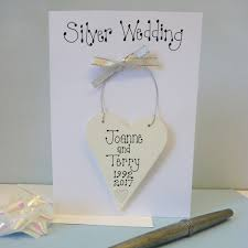personalised silver wedding card by country