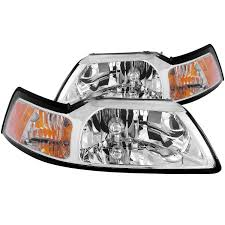 2002 ford mustang headlights anzo usa ford mustang 99 04 headlights chrome headlights