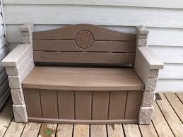 Patio Furniture Storage Bench Outdoor Storage Bench Home Design By Fuller