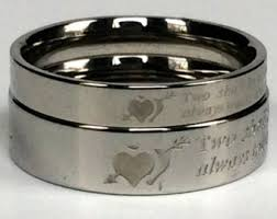 his and rings 2 pcs heart puzzle titanium couples rings his and rings