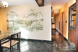 I Wallpapered The Ceiling In The Dining Room Only  Sf Left - Dining room mural