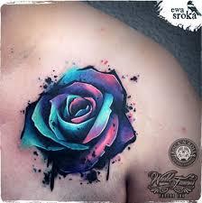 unique rose tattoo by ewa sroka warsaw poland warsaw poland