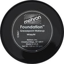 amazon com mehron makeup foundation greasepaint white 1 25oz