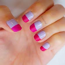 manicure monday color blocking matte u0026 shine styled with joy
