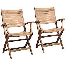 set of 2 teak alameda outdoor folding armchairs x6160 ls plus