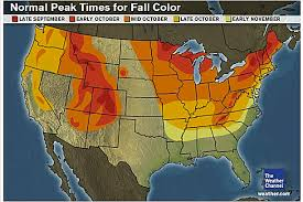weather usa map top spots to see fall foliage in the usa