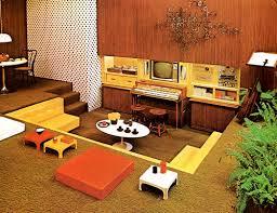 70s home design vintage retro sunken living room conservation pit room idea 70s