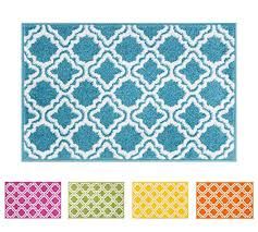 Area Rug For Kids Room by Amazon Com Modern Rug Calipso Blue 5 U0027x7 U0027 Lattice Trellis Accent