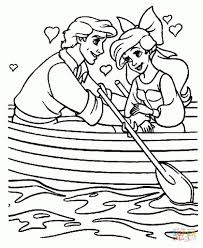 ariel and eric coloring pages intended to inspire to color page