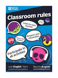 speech bubble activity teens classroom rules posters vibrant blue teachingenglish