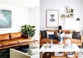 couleur canapé inspiration couleur de canapé canapé en cuir marron miel très