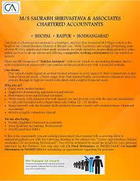 saurabh shrivastava u0026 associates chartered accountants bhopal