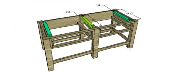 Benchwright Coffee Table by Free Woodworking Plans To Build A Potterybarn Inspired Benchwright