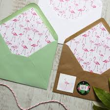 Wedding Wishes Envelope Flamingo Wedding Save The Date By Love Paper Wishes