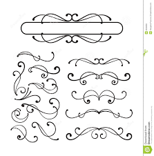 decorative scroll ornaments royalty free stock photos image 9048958