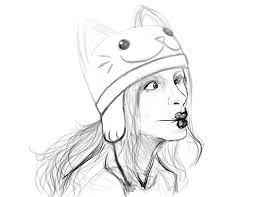 wip cat hat fish face by nikkinavaille on deviantart