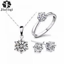 fashion jewelry statement necklace images 2017 hot sale silver color fashion jewelry sets cubic zircon jpeg