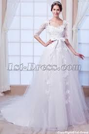 modest 1 2 long sleeves lace wedding dress 2015 spring 1st dress com