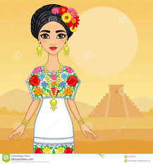 mexican family in traditional festive clothes stock vector
