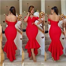 fat arabic lady red bridesmaid dresses mermaid off the shoulder