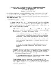 outline of an essay sample introduction to legal research outline united states code case introduction to legal research outline united states code case citation