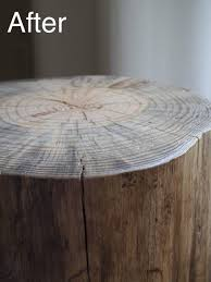 Log Side Table How To Make A Log Side Table Curbly