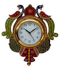 divinecrafts peacock design wooden wall clock buy divinecrafts