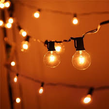 g40 string lights string lights with 25 g40 globe bulbs ul listed for indoor outdoor