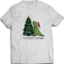 Meme T Rex - t rex hates christmas meme unisex t shirt white cotton 8bitjapan