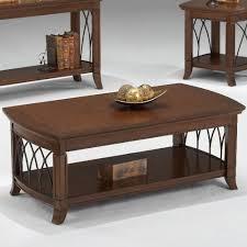 Cherry Coffee Table Bernards Cathedral Cherry Coffee Table W Lower Shelf Wayside