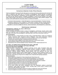 Resume Examples For Oil Field Job by Corrections Officer Resume Example Resume Examples And Job
