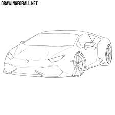 lamborghini sketch side view how to draw a sports car step by step drawingforall net