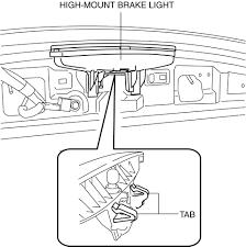 High Mount Brake Light Mazda 3 Service Manual High Mount Brake Light Removal