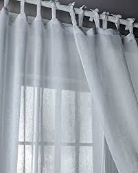 best curtains amazon com best home fashion sheer voile curtains tie top