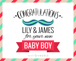 congratulations card new baby congratulations greeting card maker editable design