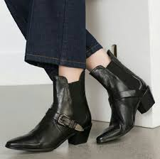 s boots buckle zara trend boots with buckle from s closet on