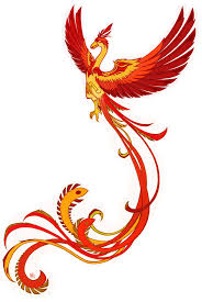 attractive flying phoenix tattoo design by scuro acheson