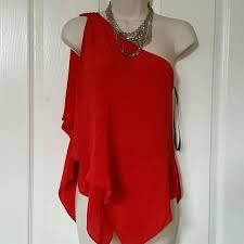 bebe blouse 44 bebe tops nwt bebe xs one shoulder blouse silk from