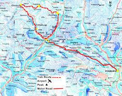 Kathmandu Nepal Map by Trekking Maps Trekking In Nepal