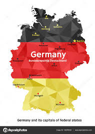 Erfurt Germany Map by Map Of Germany Bundesrepublik Deutschland U2014 Stock Vector