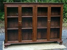 Vintage Bookcase With Glass Doors Antique Glass Door Bookcase Bookcase With Glass Doors Antique